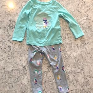 Cat & Jack 3T Penguin Outfit